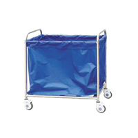 Hot Sale Stainless Steel Dirty Clothes Bag Trolley