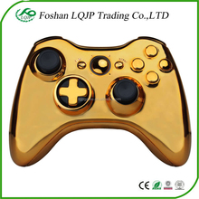 Full golden Controller Shell Case Housing for Microsoft Xbox 360 Wireless Controller shell gold silver color case shell