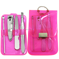 4pcs transparent case manicure set pedicure sets