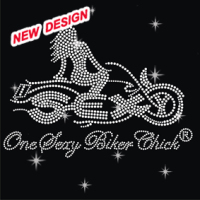 Cool biker babe motorcycle rhinestone transfer designs for motors FY 15 (2)