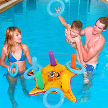 Swimming Ring Pool Float Toy Inflatable Starfish Ring Toss Game For Kids Water Sports Party Supplies PVC Ferrule Games