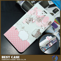 alibaba express custom design flip cover leather case for huawei ascend g7