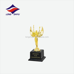 Fashionable metal gold star trophy