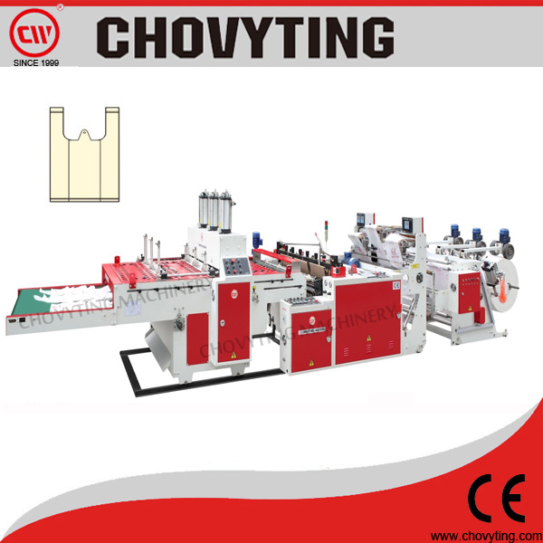 CW-300V3-TLR machine for making t shirt bags