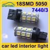 DC 12V car auto led lamp light T20 7440/7443 5050 18SMD