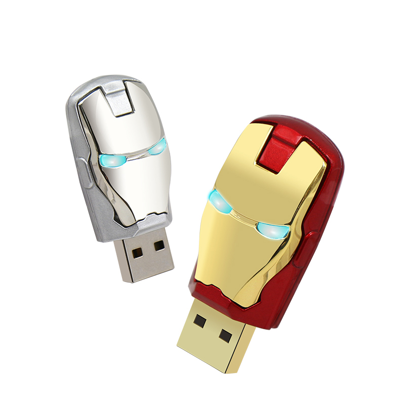 Fashion Optional Gift Avenger Ironman Shaped 8gb 16gb 32gb 64gb gift pendrive