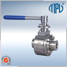 "Lever Operated Stainless Steel 1/2"" Floating Ball Valve"