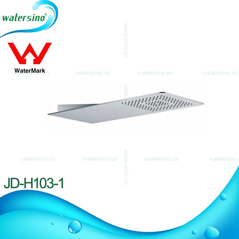 Watersino stainless steel 304 brushed rainfall shower head with watermark