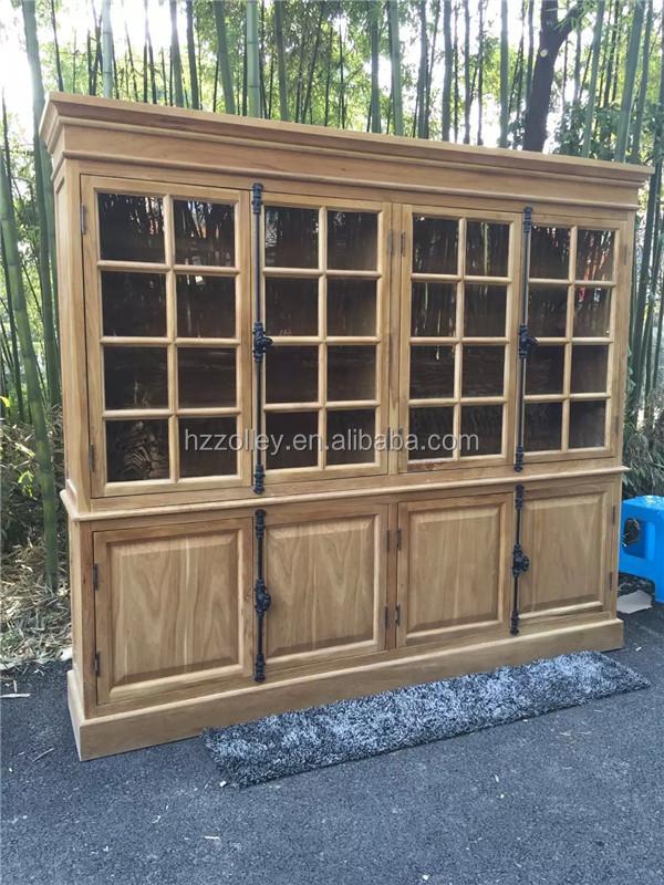 Antieke massief houten woonkamer meubels houten hoekkast for Houten meubels woonkamer