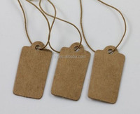 30MM Blank Kraft Paper With Elastic String Jewelry Price Label Hang Tag (M-HT145)