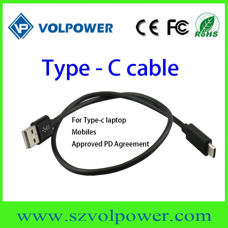 New technology 2017 in competitive price ! VP-T03 approved PD agreement Type c laptop usb type c cable