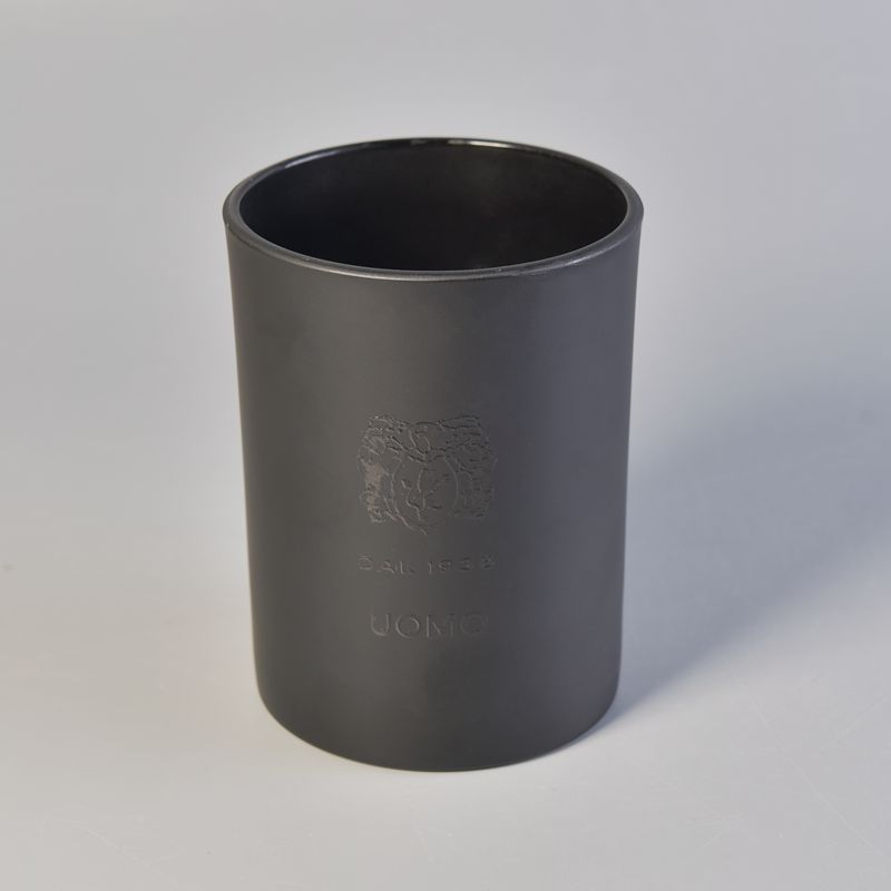 Popular Matte Black Glass Candle Jar