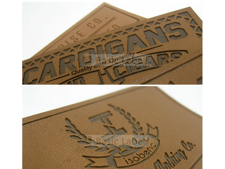 High quality custom leather patch labels for clothing