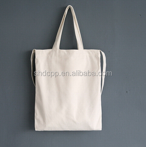 Customized OEM plain cotton book bag