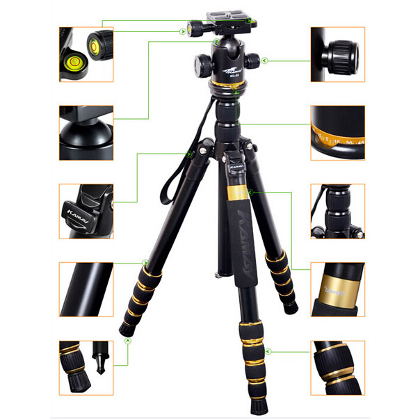 Flexible Camera and Video camera Tripod K888