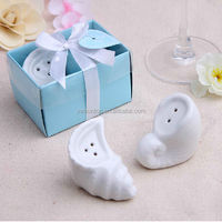 High Quality Wedding Souvenir Sea Snail Salt and Pepper Shakers Free Shipping 100 sets