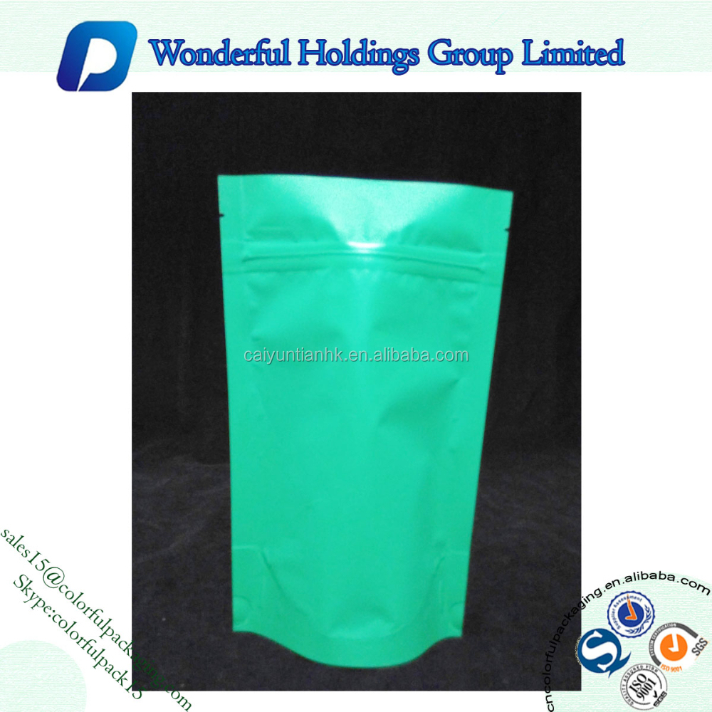 Back Pure Color Printed Plastic Yinyang Pouch/Aluminum Foil Printing Bag with Ziplock Plastic Packaging Pags for Food