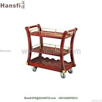 Hotel Serving Cart Trolley Wood