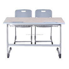 Double Wooden School Student Writing Desk
