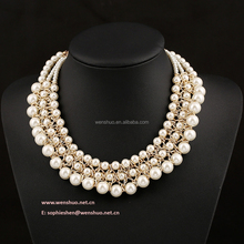 Multilayer Pearl Statement Necklace Fashion Jewellery