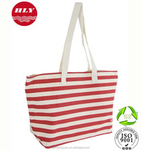 ECO Pink Canvas Striped Bags