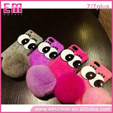 Fashion High Quality Furry Phone Case,Personalized Cute Eyes Back Case,Fashion Plush Fur Phone Case Cover for iPhone