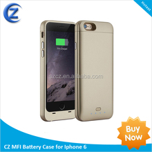 MFI Battery Case for iPhone 6 with 3100mah capacity