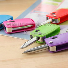 factory price Plastic Folding Ballpen Folding ball pen with 1 LED light in a car key shaped