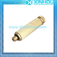 High pressure greenhouse fine fog spray brass mist cooling nozzle