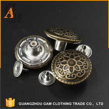 2017 OEM custom garments wholesale jacket remove metal buttons for coats