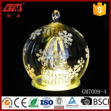 christmas decorative frost glass ball with led light