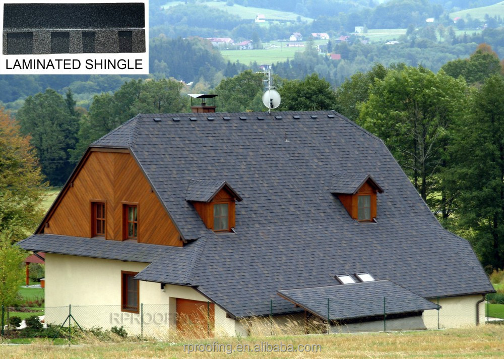 [Cheap roofing material] High quality laminated asphalt roofing shingles prices
