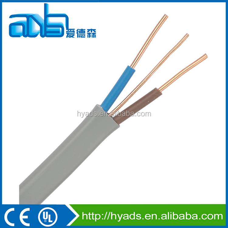 2x1.5+1.5mm2 flat twin and earth electrical cable
