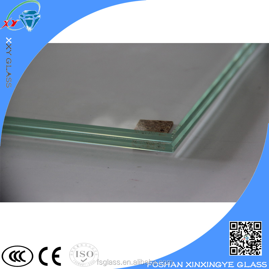 High quality unbreakable tempered laminated glass safety flat tempered glass