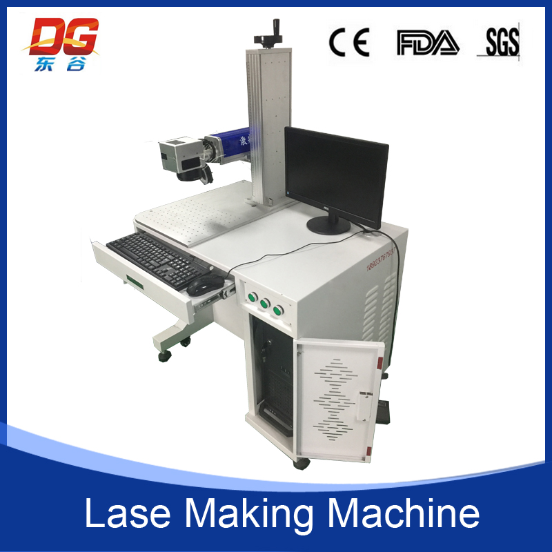 Stainless steel metal fiber color laser marking machine with high speed scanning galvanometer