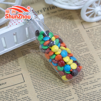 45g small cola bottle colorful sweet coated crispy chocolate beans