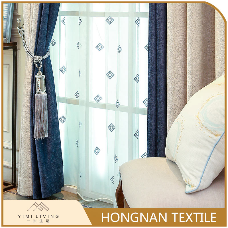 Custom made low price of jacquard window luxury sheer drape curtain