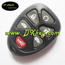 6+1 button fake car key without battery holder for GMC car key case gm remote fob