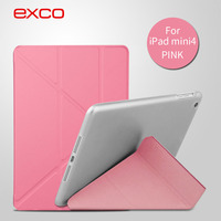 EXCO New Arrival 360 Rotating golden flip smart case For iPad mini 4