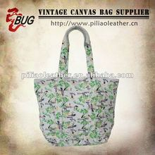 2014 Floral Canvas Tote Bags/Handbags