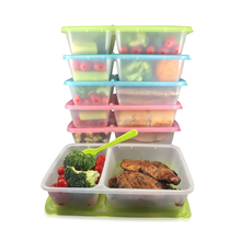 Wholesale 2 compartment reusable BPA free plastic food storage container