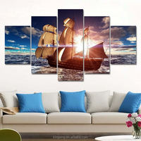 High quality cheap price Modern canvas pop sea landscape oil paintings with outer frames for home decoration