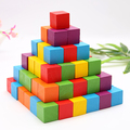 Safe Wood Training Imagination 3D Puzzles Toy Colorful Small Wooden Craft Cubes