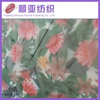 flower printed organza fabric for dress