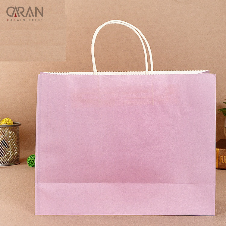 Xiamen Manufactuerer Custom White Kraft Paper Bag with White Paper Rope Handle