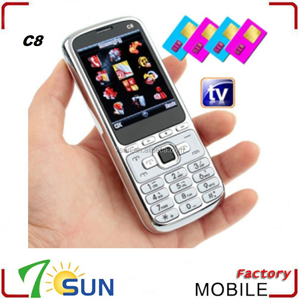 C8 4 sim 4 standby mobile phone