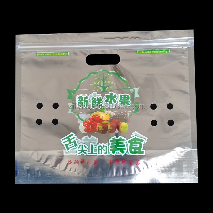 Printed Fruit packing bag with vent holes for Grape and Cherry