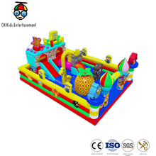 Shopping wall indoor bouncy castle inflatable kids trampoline/jumping bed