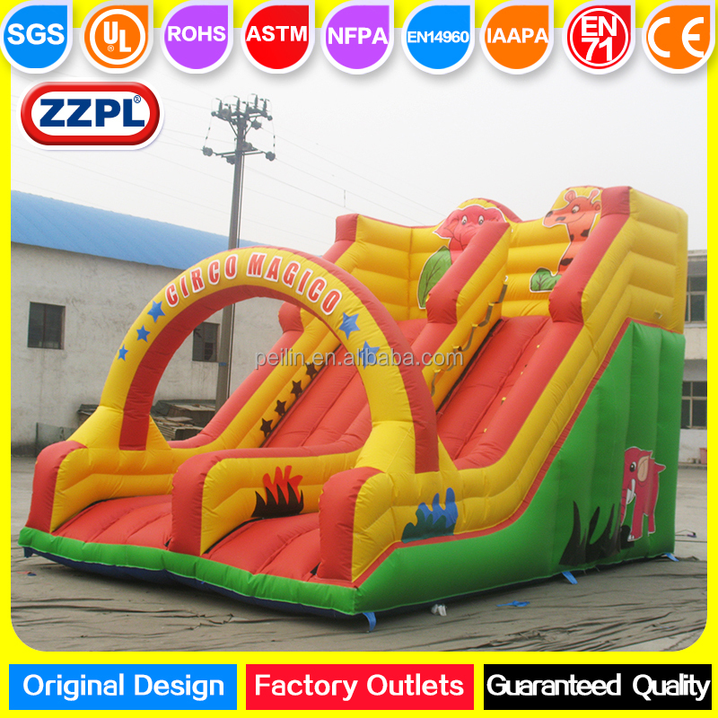 ZZPL animal theme children inflatable jumping castle slide, backyard cartoon slide