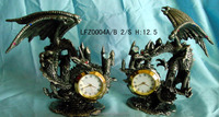 Pewter wholesale competitive price good quality metal desk clock